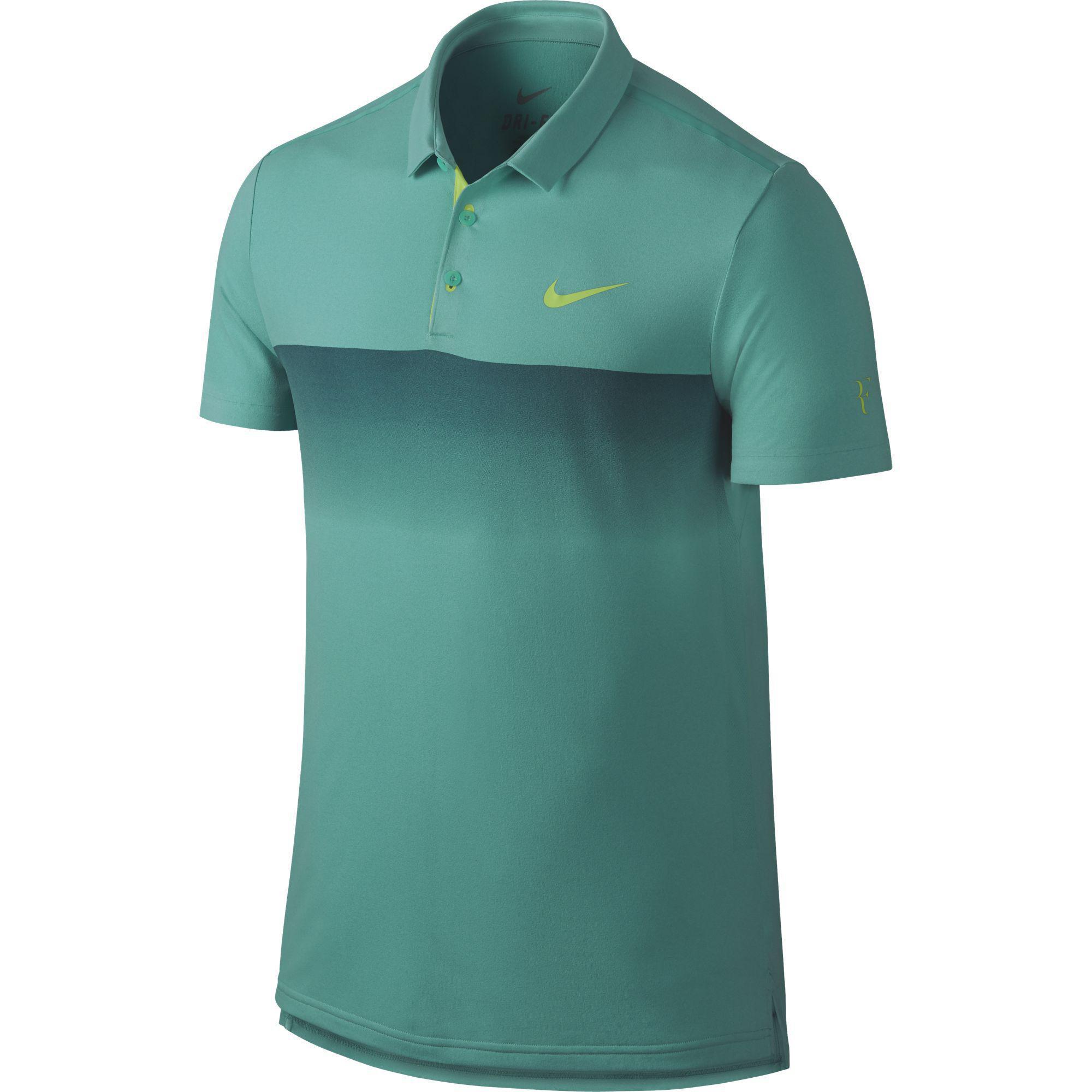Nike Mens Premier RF Polo - Light Retro Teal Key Lime - Tennisnuts.com 484aaf6e0696