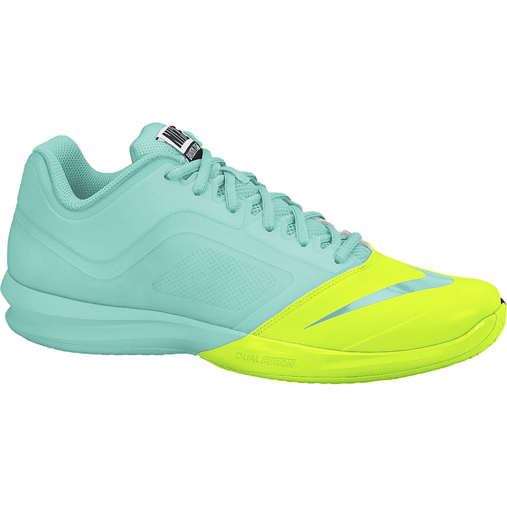 superior quality f6497 b69d4 Nike Womens Dual Fusion Ballistec Advantage Tennis Shoes - Bleached  Turquoise Volt - Tennisnuts.com
