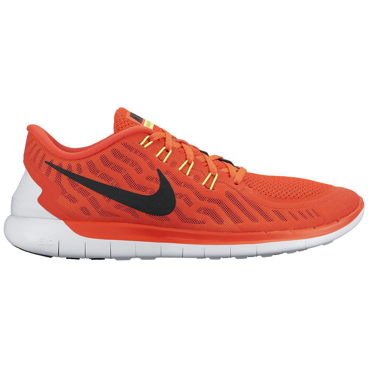 nike mens free 5 0 running shoes bright crimson total. Black Bedroom Furniture Sets. Home Design Ideas