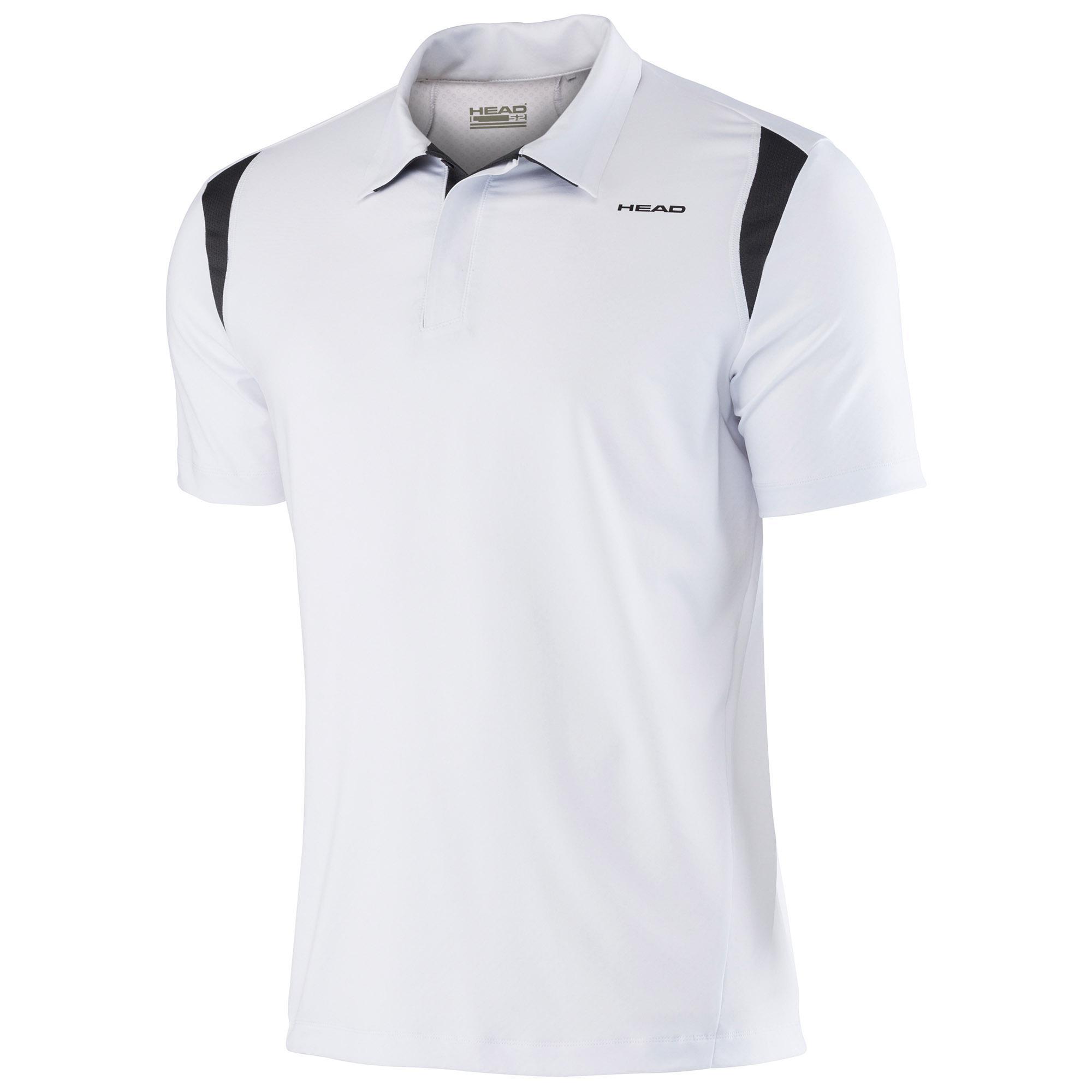 Head mens performance cool polo shirt white for Cool mens polo shirts