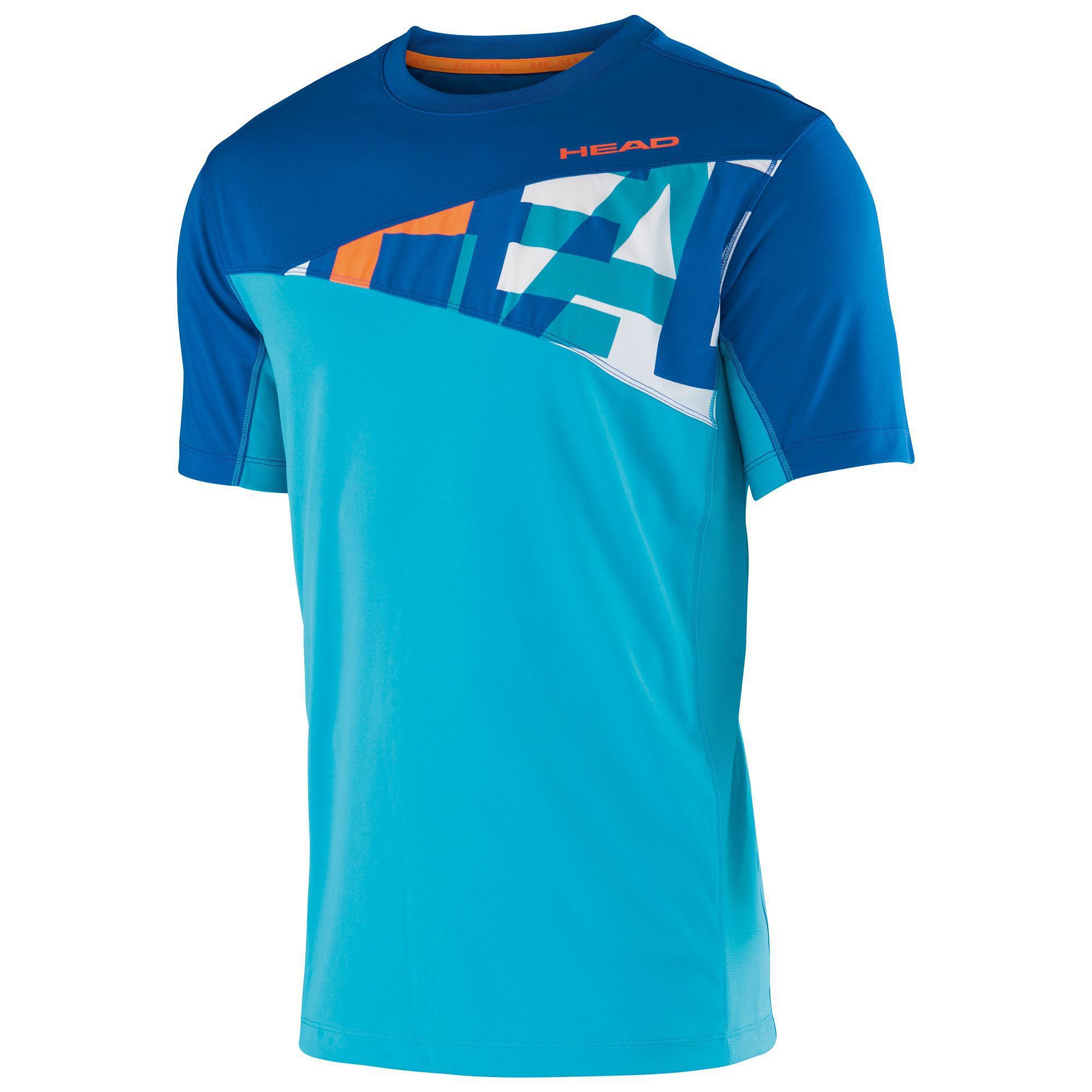 Head boys arne junior t shirt turquoise blue for Aqua blue mens dress shirt