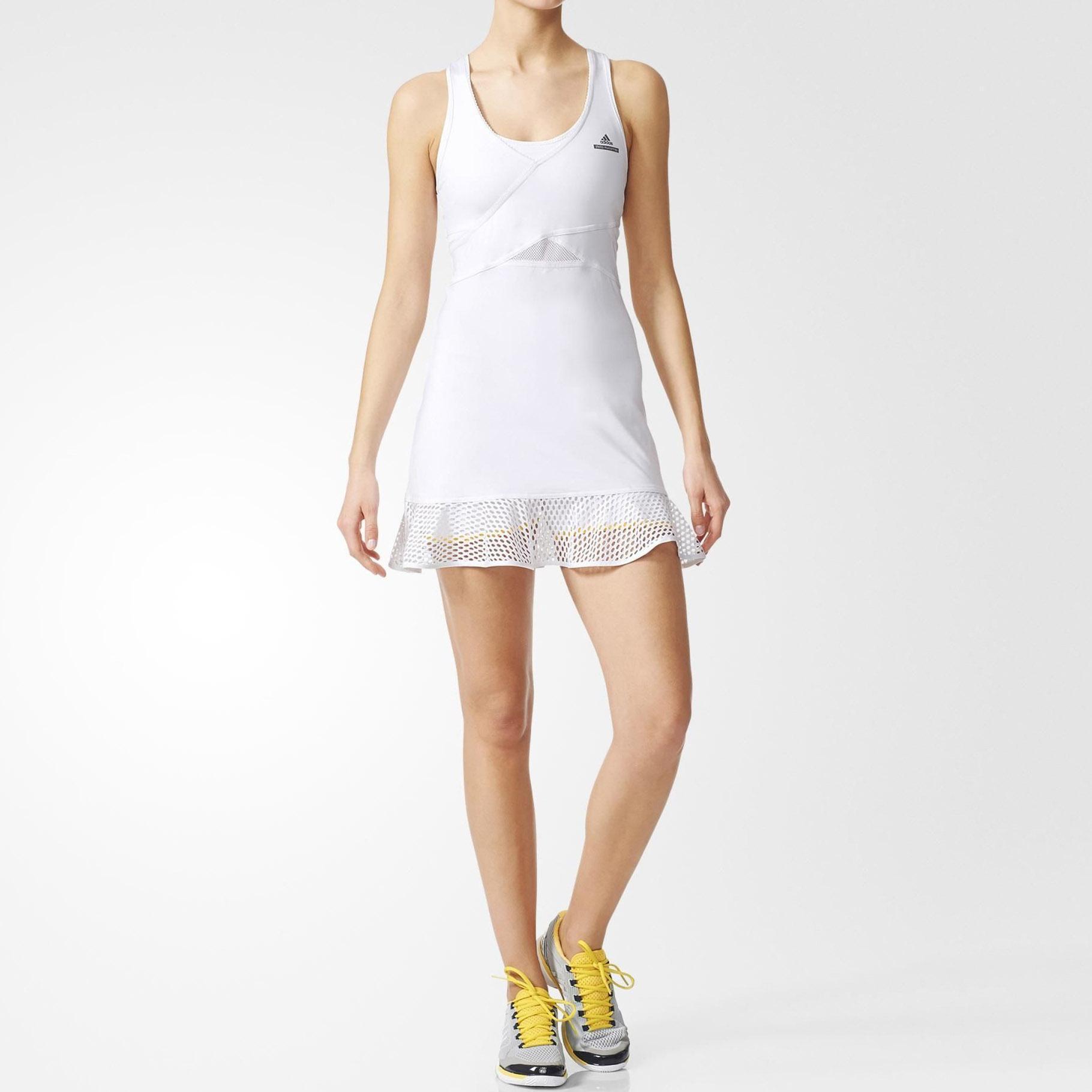 eb9840fe15b55 Adidas Womens Stella McCartney Barricade Dress - White - Tennisnuts.com