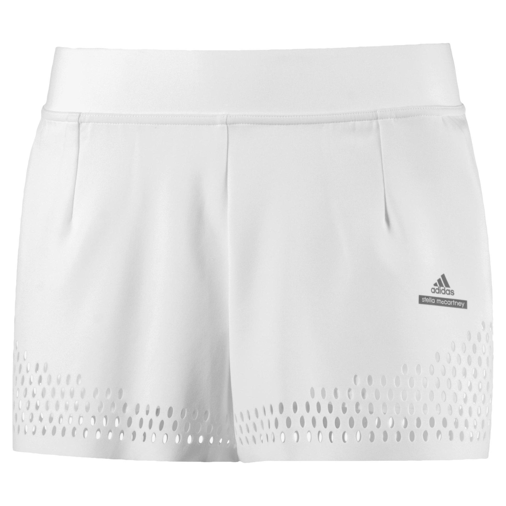 new product 5dbe5 bbb48 Adidas Womens Stella McCartney Barricade Shorts - White - Tennisnuts.com