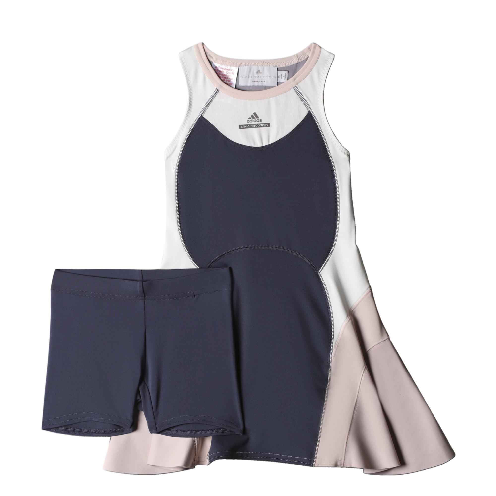 2b486093178 Adidas Girls Stella McCartney Barricade Dress - Midnight Grey -  Tennisnuts.com