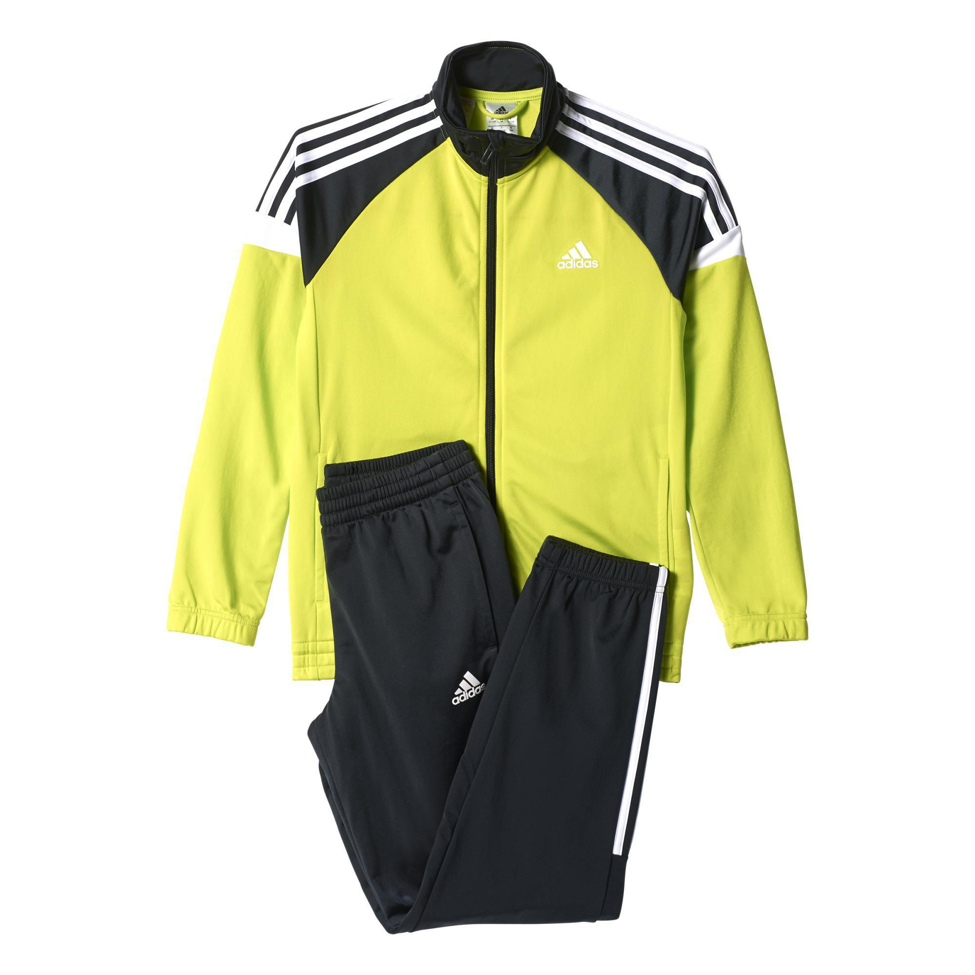 9761d19e9d88 Adidas Boys Tiberio Tracksuit - Yellow Black - Tennisnuts.com