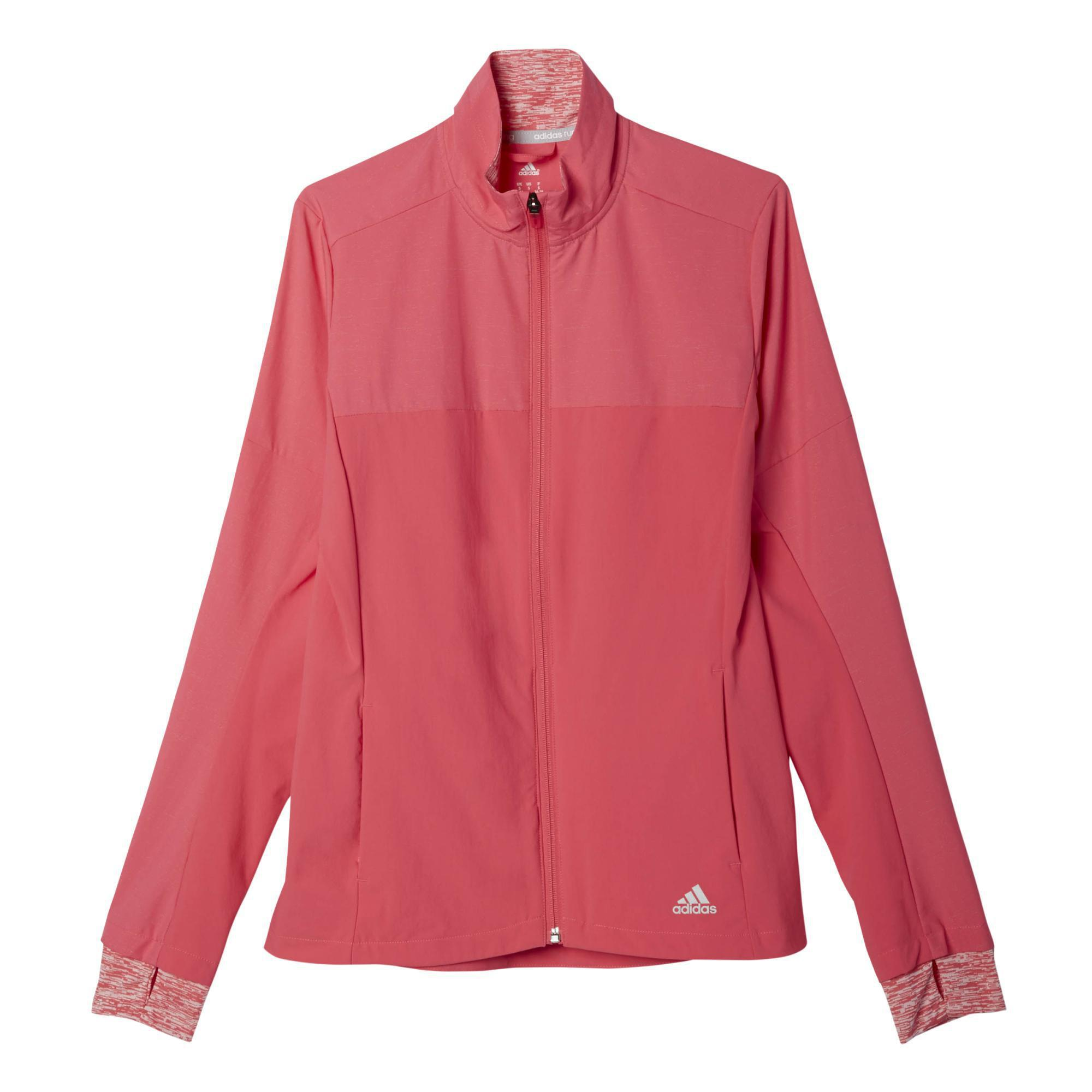 factory price cozy fresh quite nice Adidas Womens Supernova Storm Jacket - Super Pink