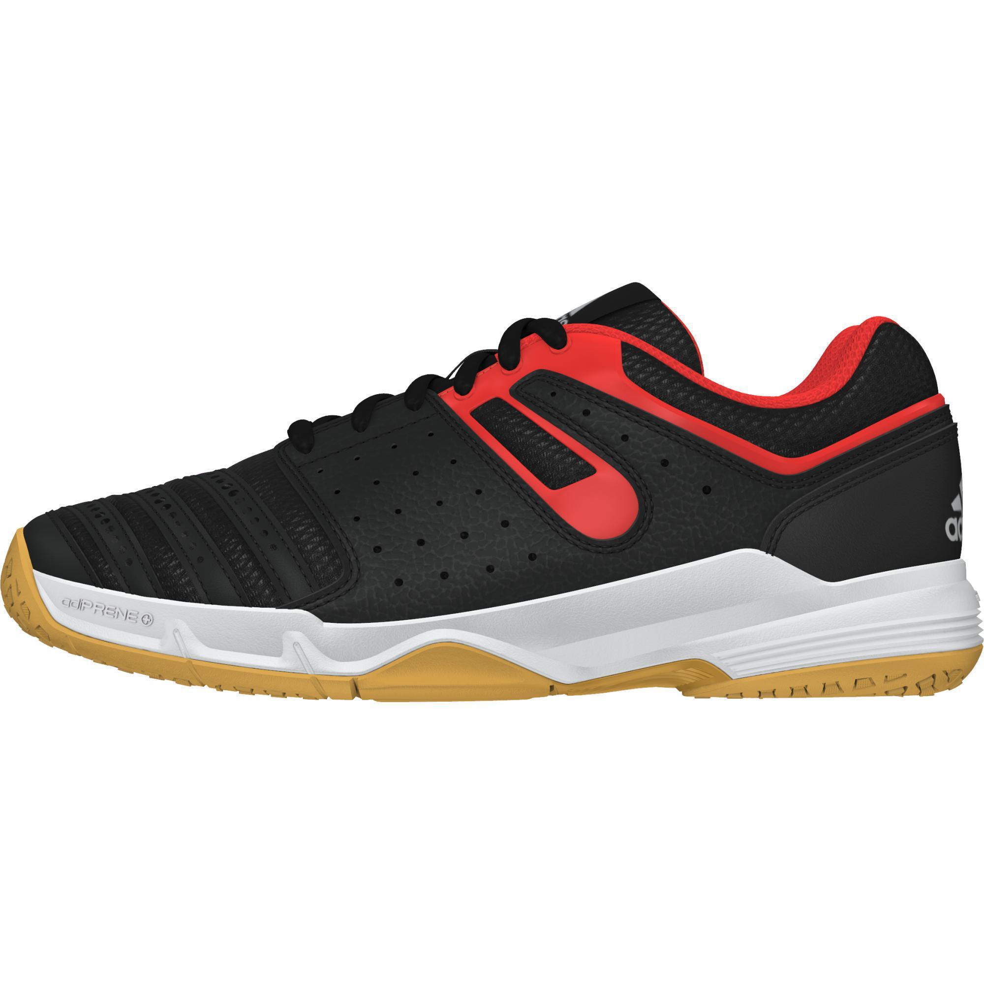 Adidas Boys Corte Neri Stabil Indoor Scarpe Neri Corte / Orange 5d2897