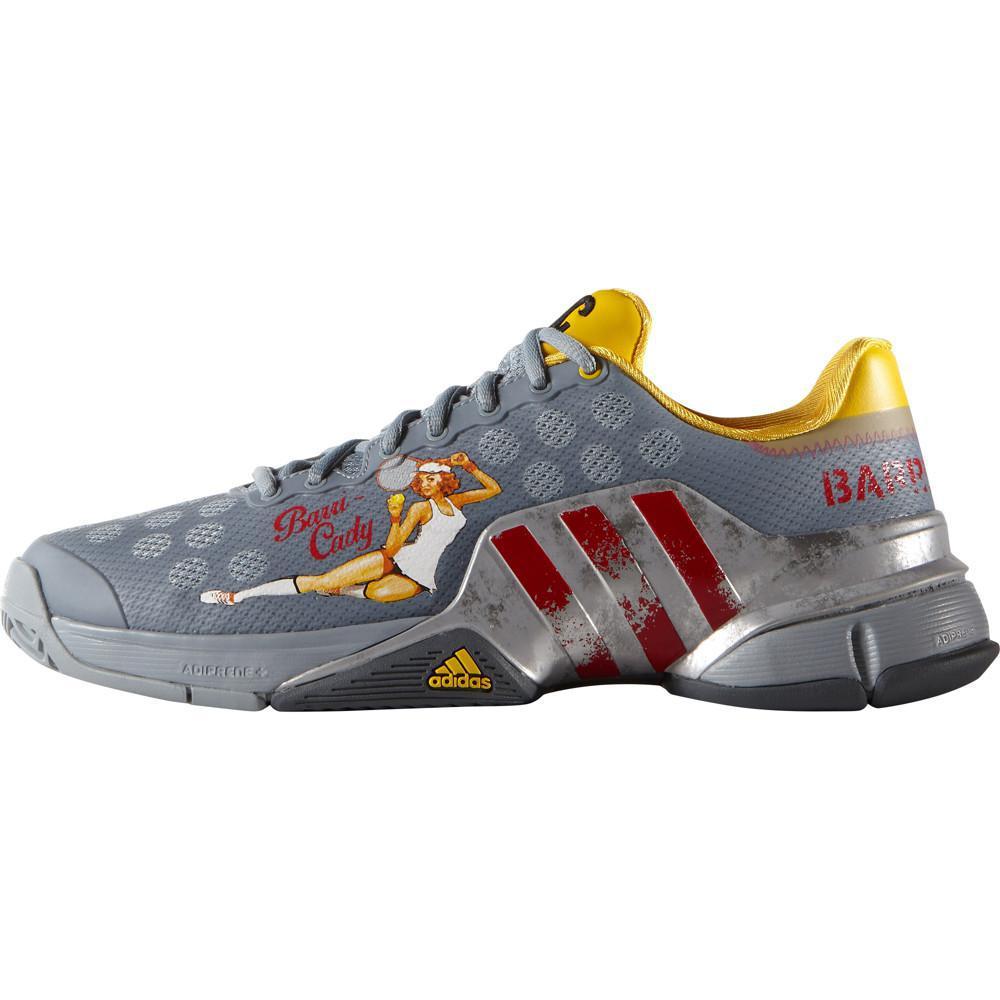 Adidas Mens Barricade 2015 Lucky Lady Barri Cady Tennis Shoes Grey