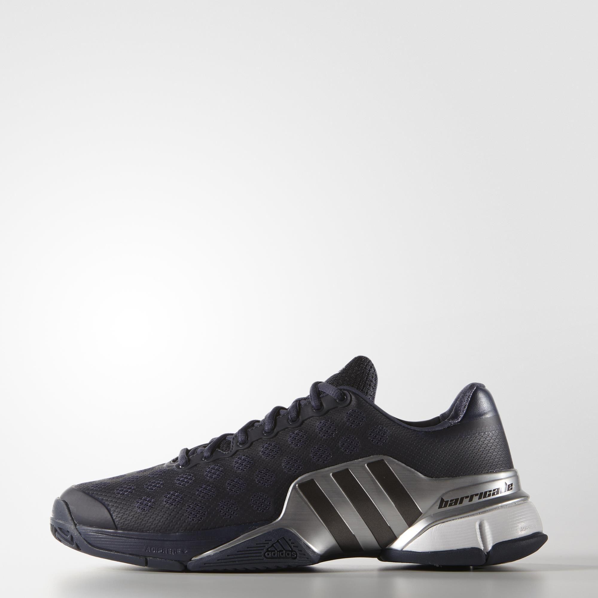 1d5ec9a42e6 Adidas Mens Barricade 2015 Tennis Shoes - Midnight Grey - Tennisnuts.com