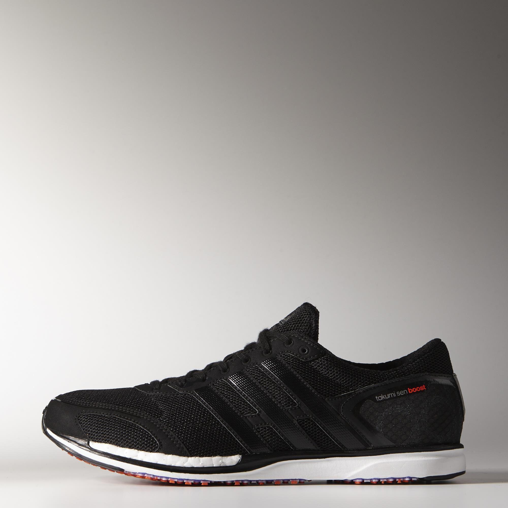 de7474460fc Adidas Mens Adizero Takumi Sen Boost 3 Running Shoes - Black White -  Tennisnuts.com