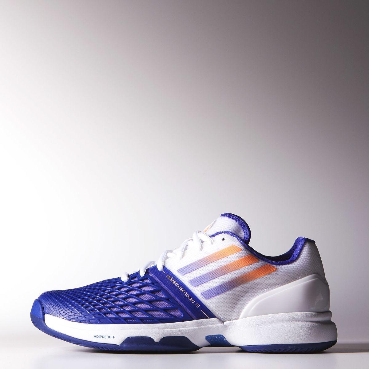 50c9402b23fd Adidas Womens CC Adizero Tempaia 3 Tennis Shoes - White Purple -  Tennisnuts.com