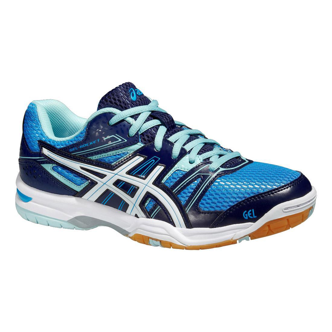 a39d42e550c1 Asics Womens GEL-Rocket 7 Indoor Court Shoes - Powder Blue - Tennisnuts.com