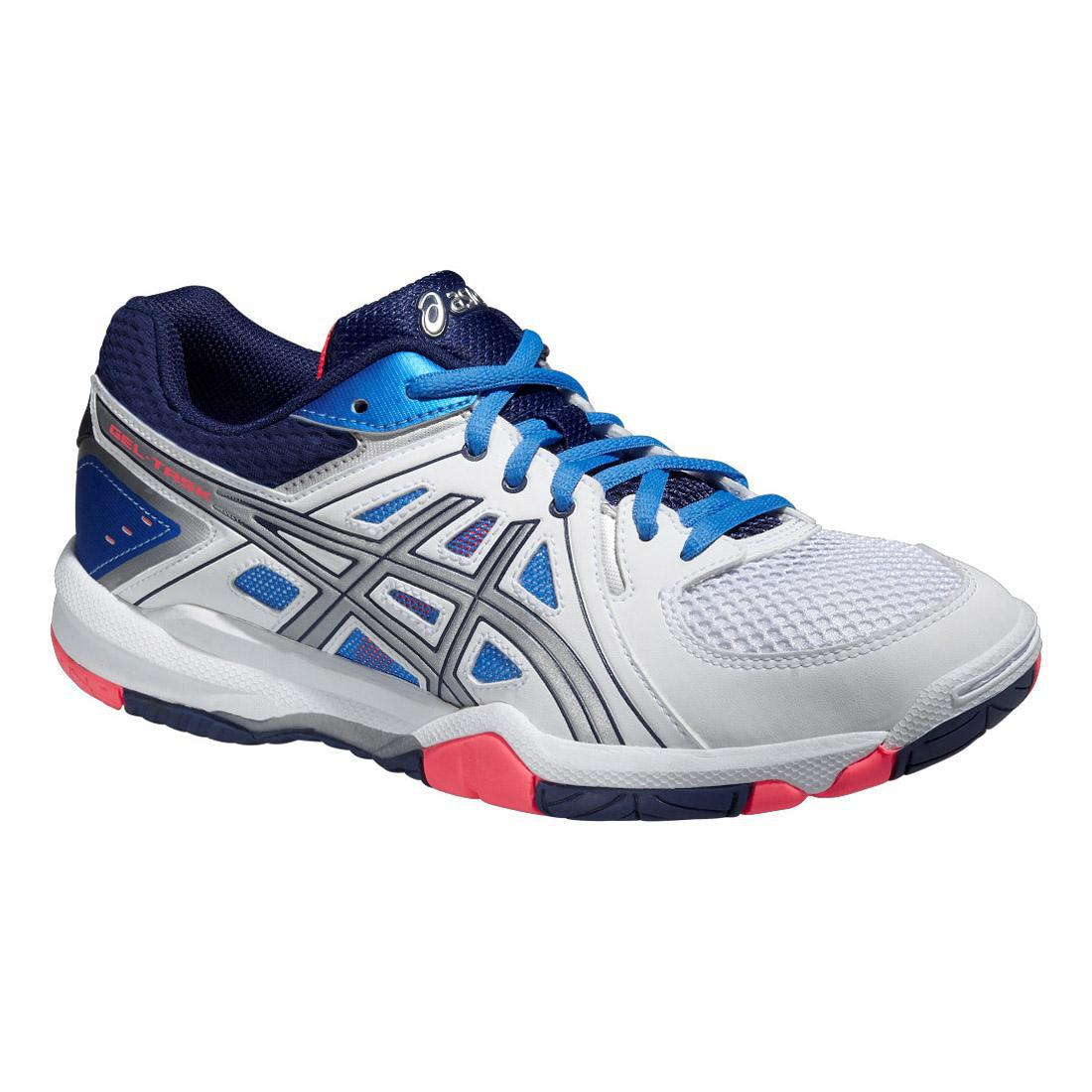 Asics Womens GEL-Task Indoor Court Shoes - White/Blue