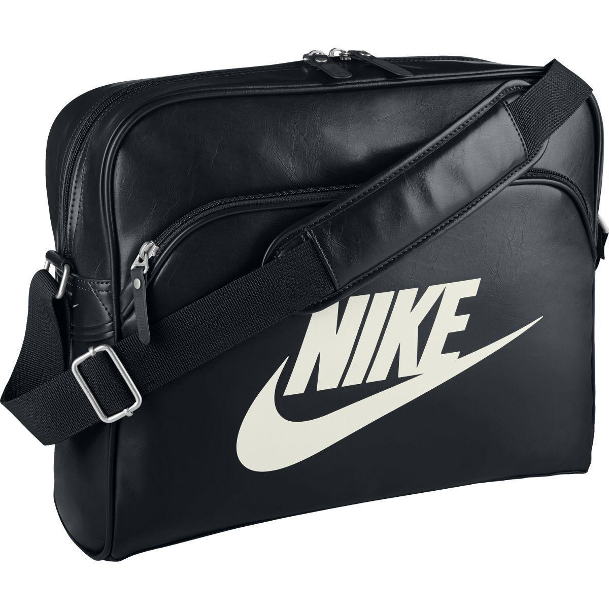 nike heritage shoulder bag black. Black Bedroom Furniture Sets. Home Design Ideas