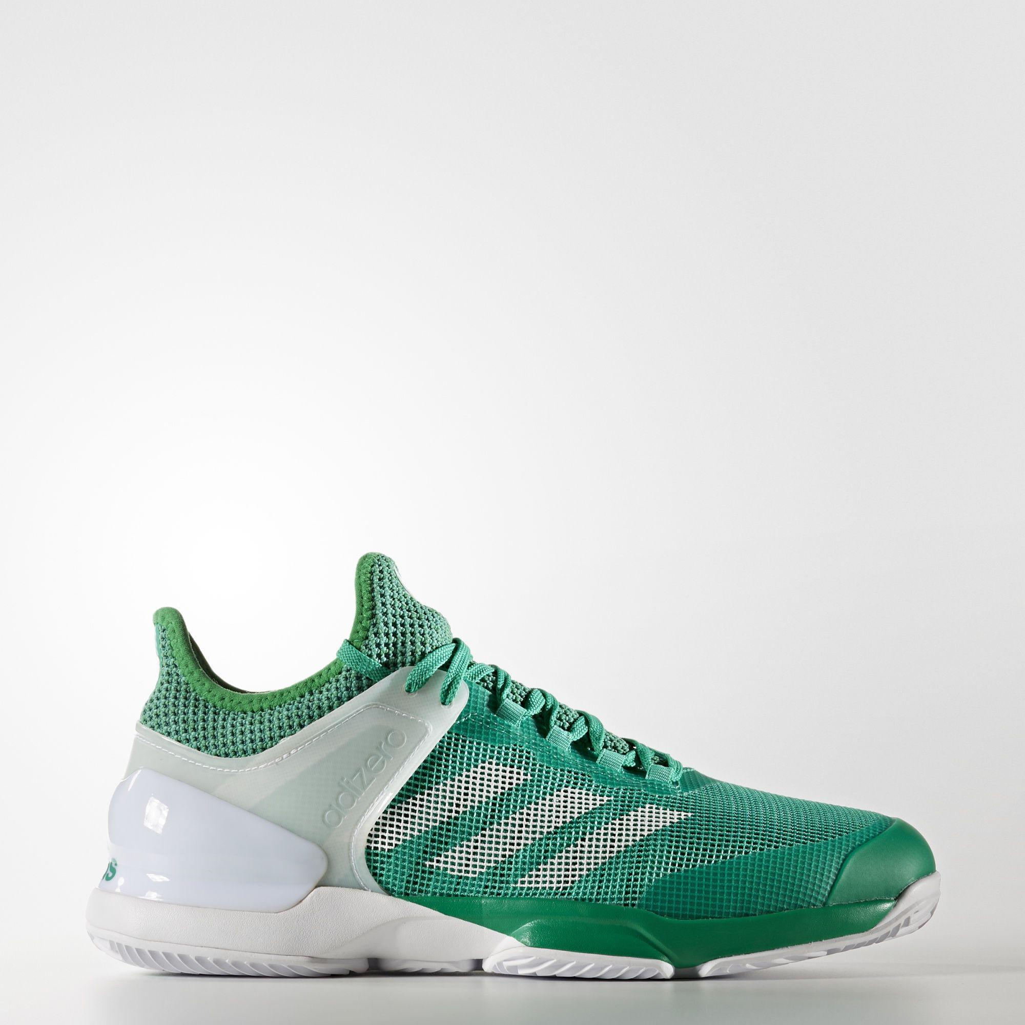 Adidas Mens Adizero Ubersonic 2 Clay Court Tennis Shoes - Green -  Tennisnuts.com aa549672c