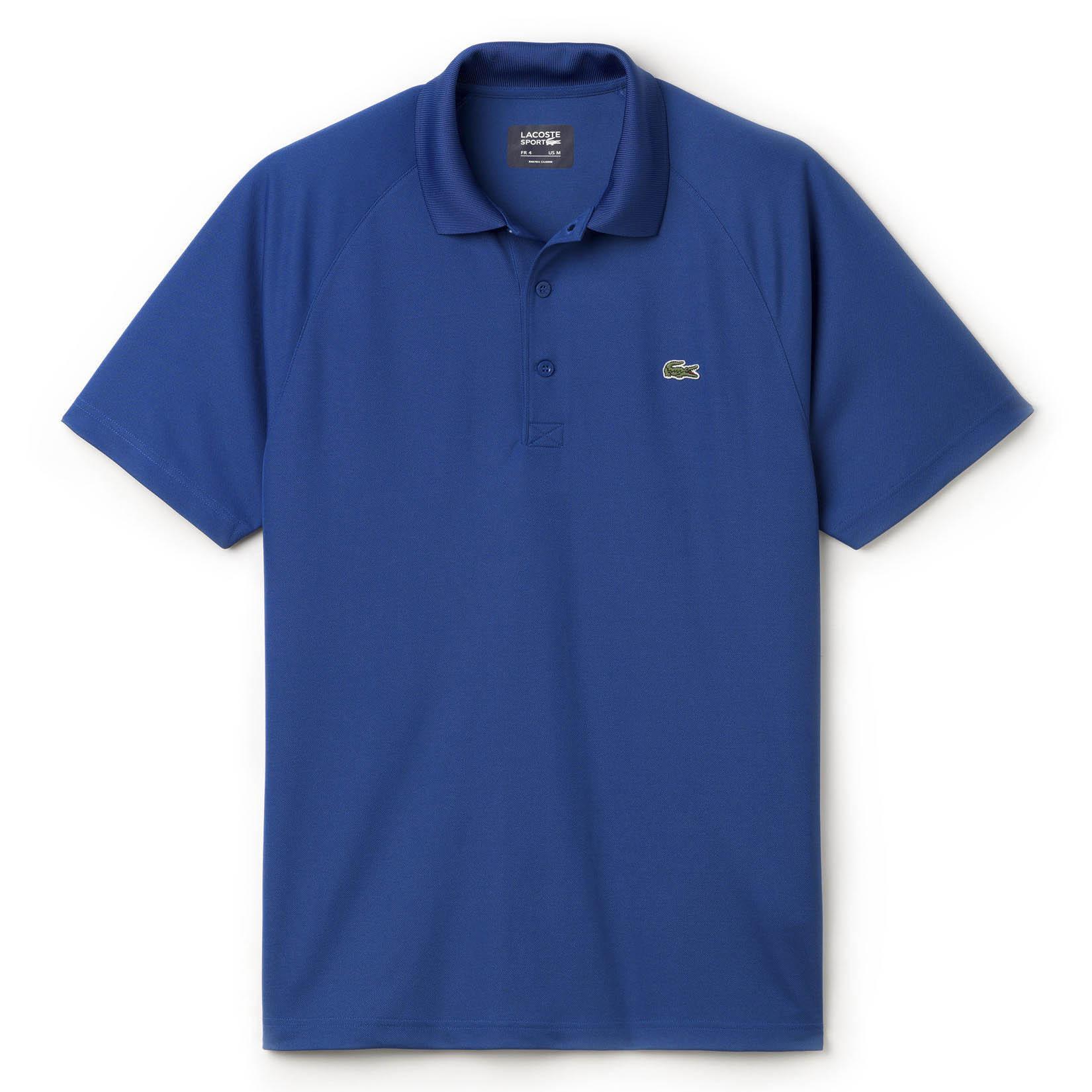 c8f7559f7 Lacoste Sport Mens Ultra Dry Raglan Sleeve Polo - Monaco Blue -  Tennisnuts.com