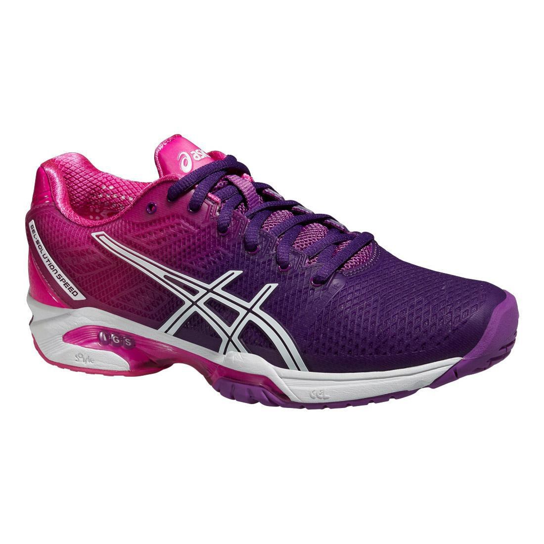Asics Womens GEL Solution Speed 2 Tennis Shoes - Purple/Pink