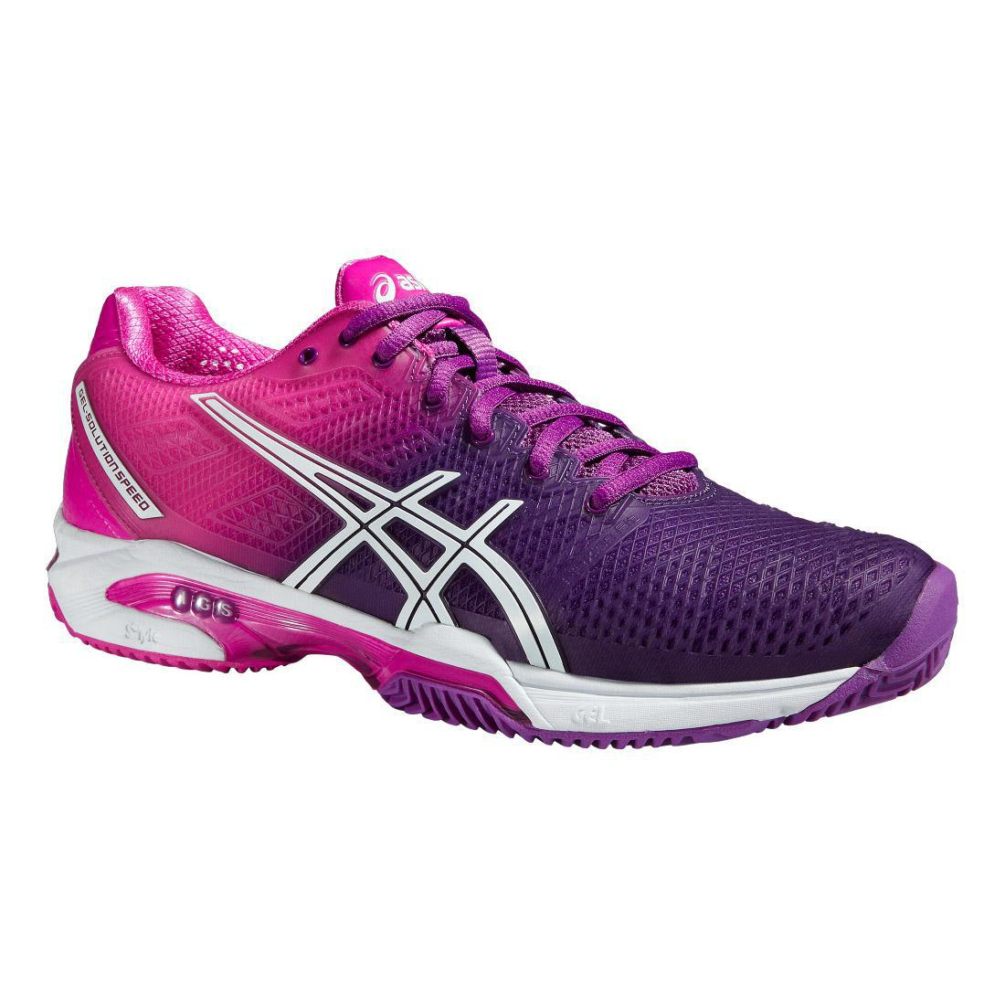 Asics Womens GEL-Solution Speed 2 Clay Court Tennis Shoes - Purple