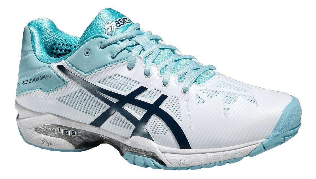 wholesale dealer 09812 664ab Asics Womens GEL-Solution Speed 3 Tennis Shoes - White Blue - Tennisnuts.com