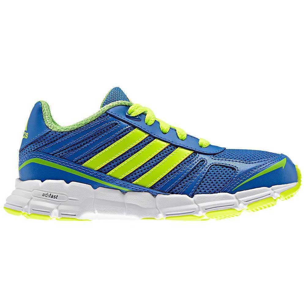 487750daac1923 Adidas Kids AdiFast Running Shoes - Blue Lime - Tennisnuts.com