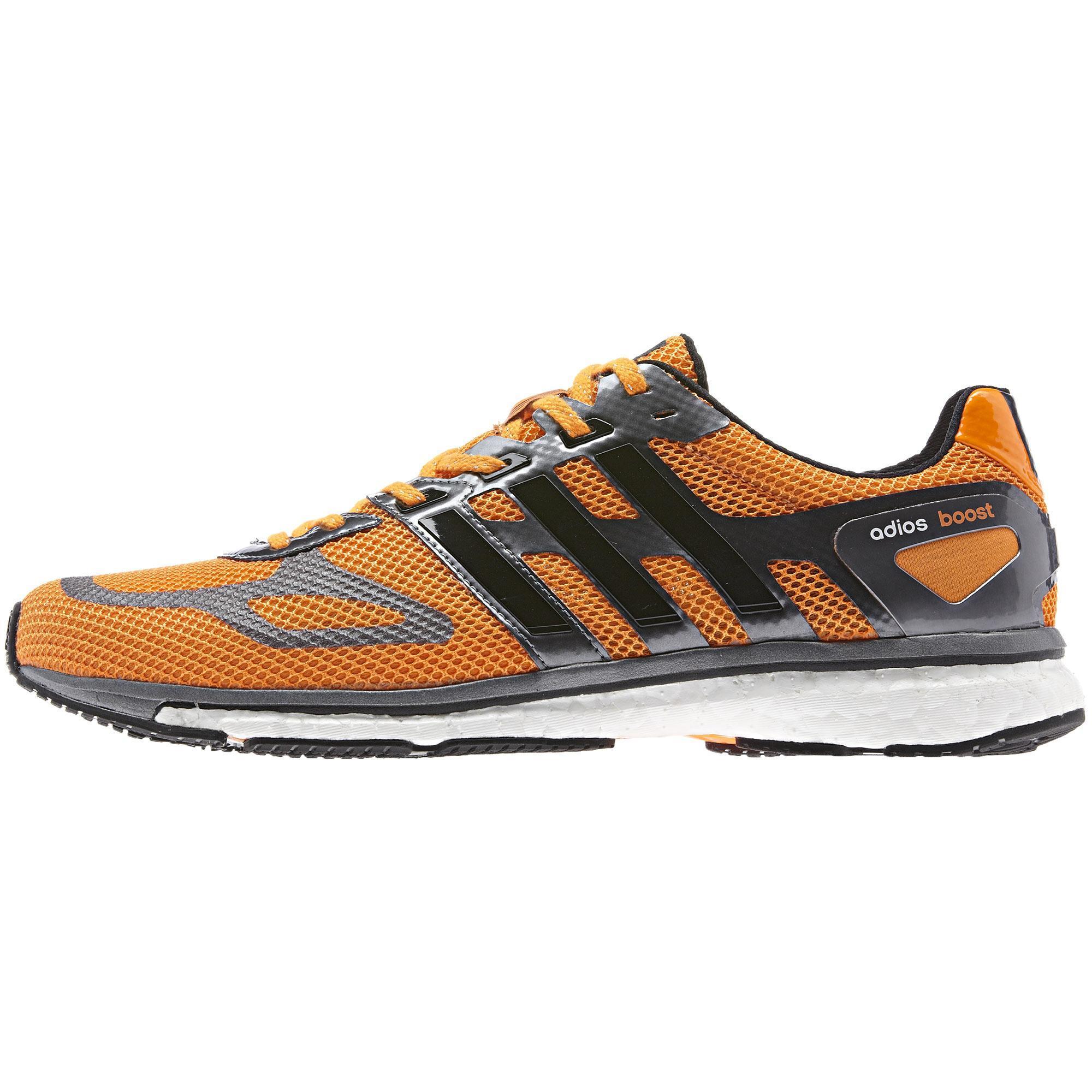 Adidas Mens Adizero Adios Boost Running Shoes OrangeBlack