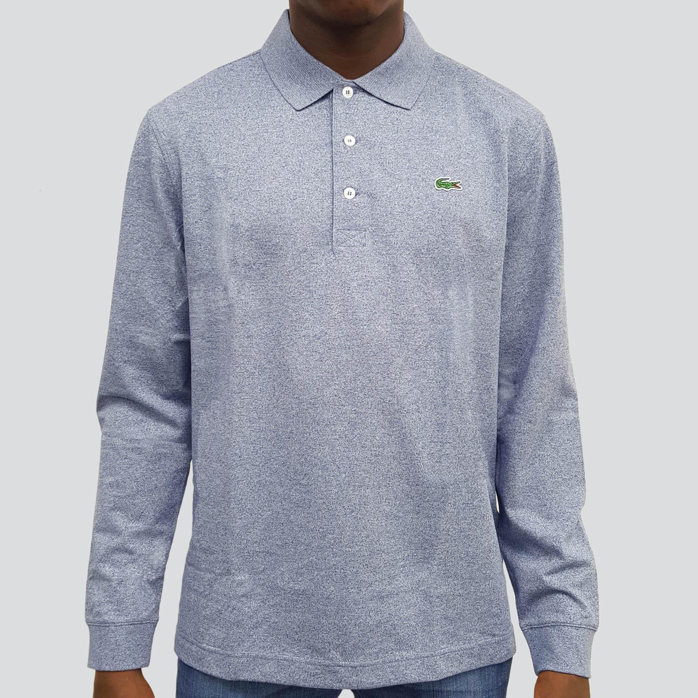 5673a02e Lacoste Sport Mens Long Sleeve Polo - Light Indigo Blue - Tennisnuts.com