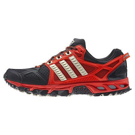 Adidas Mens Kanadia Tr 6 Running Shoes - Grey/Orange