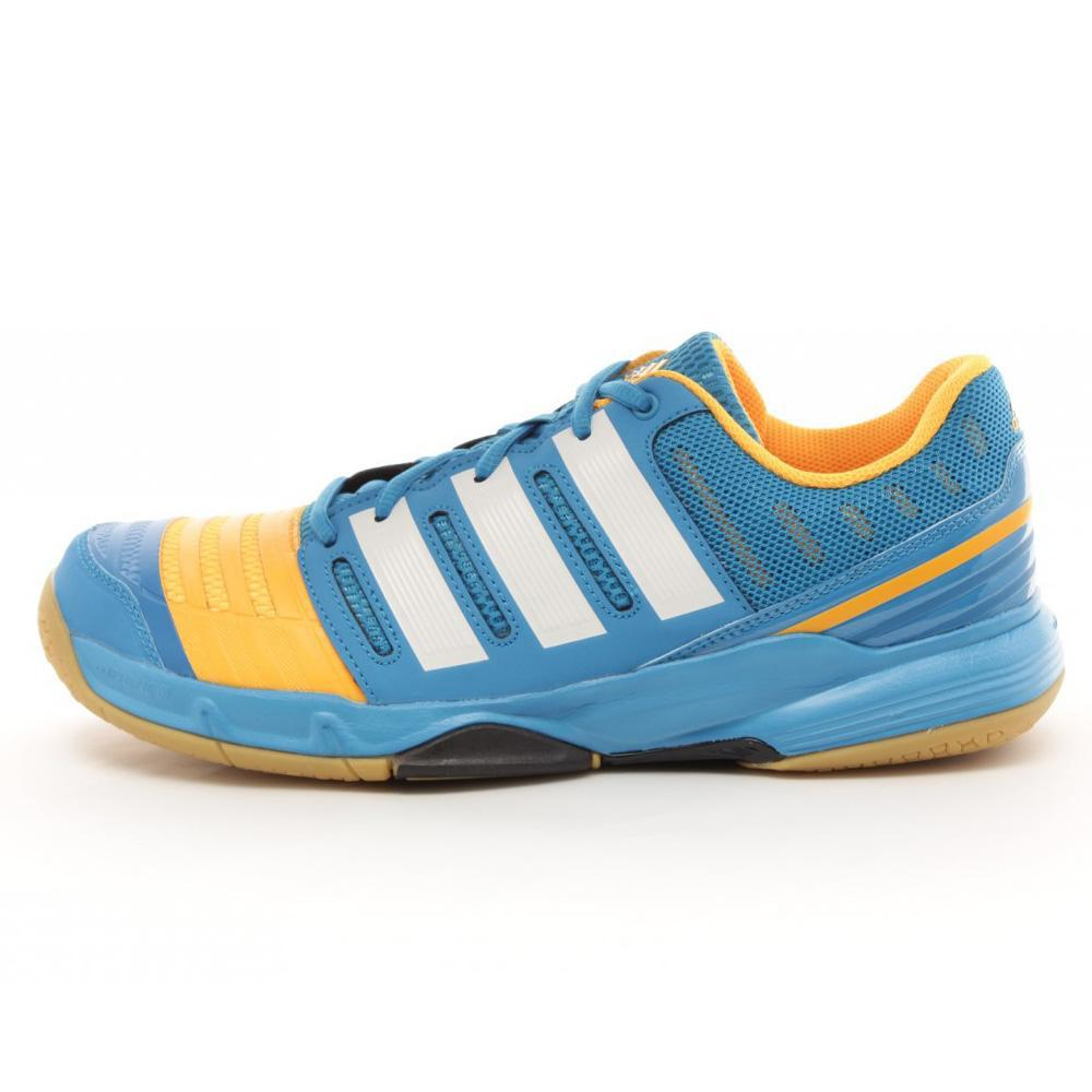 Adidas Mens Court Stabil 11 Indoor Shoes - Blue/Yellow