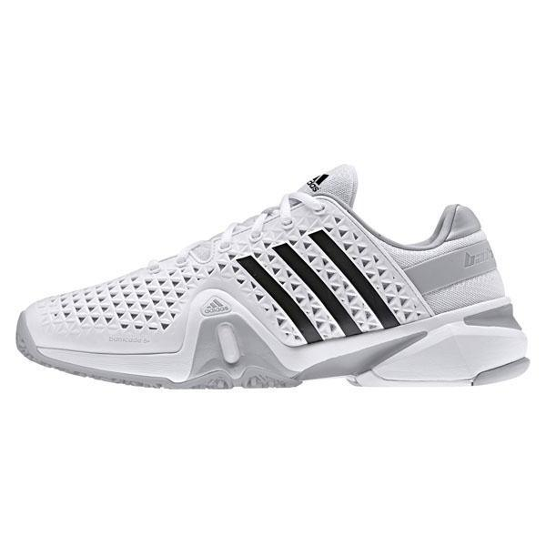 1c023d3fa19 Adidas Mens Adipower Barricade 8+ OC Tennis Shoes - White - Tennisnuts.com