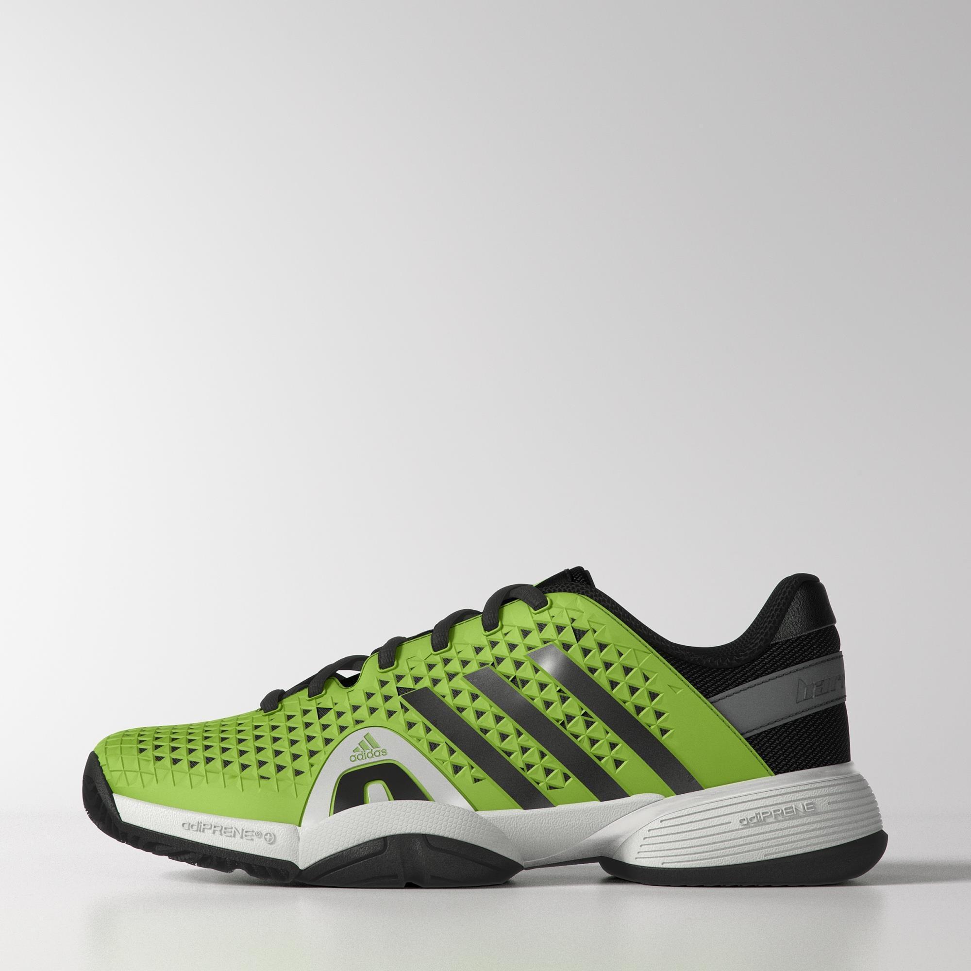 Adidas Kids Barricade 8+ xJ Junior Tennis Shoes - Solar Green -  Tennisnuts.com eeee9d8182f9