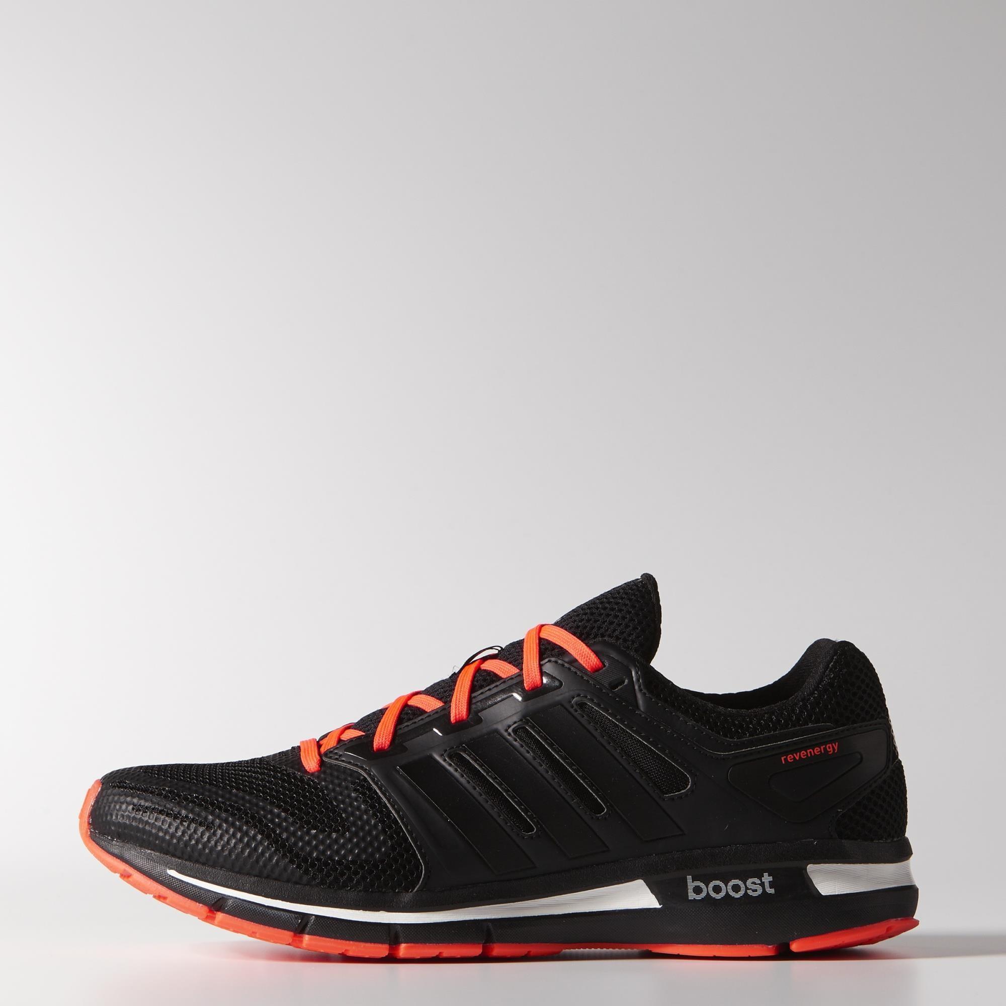 wholesale dealer d6c40 20206 Adidas Mens Revenergy Mesh Running Shoes - BlackSolar Red - Tennisnuts.com