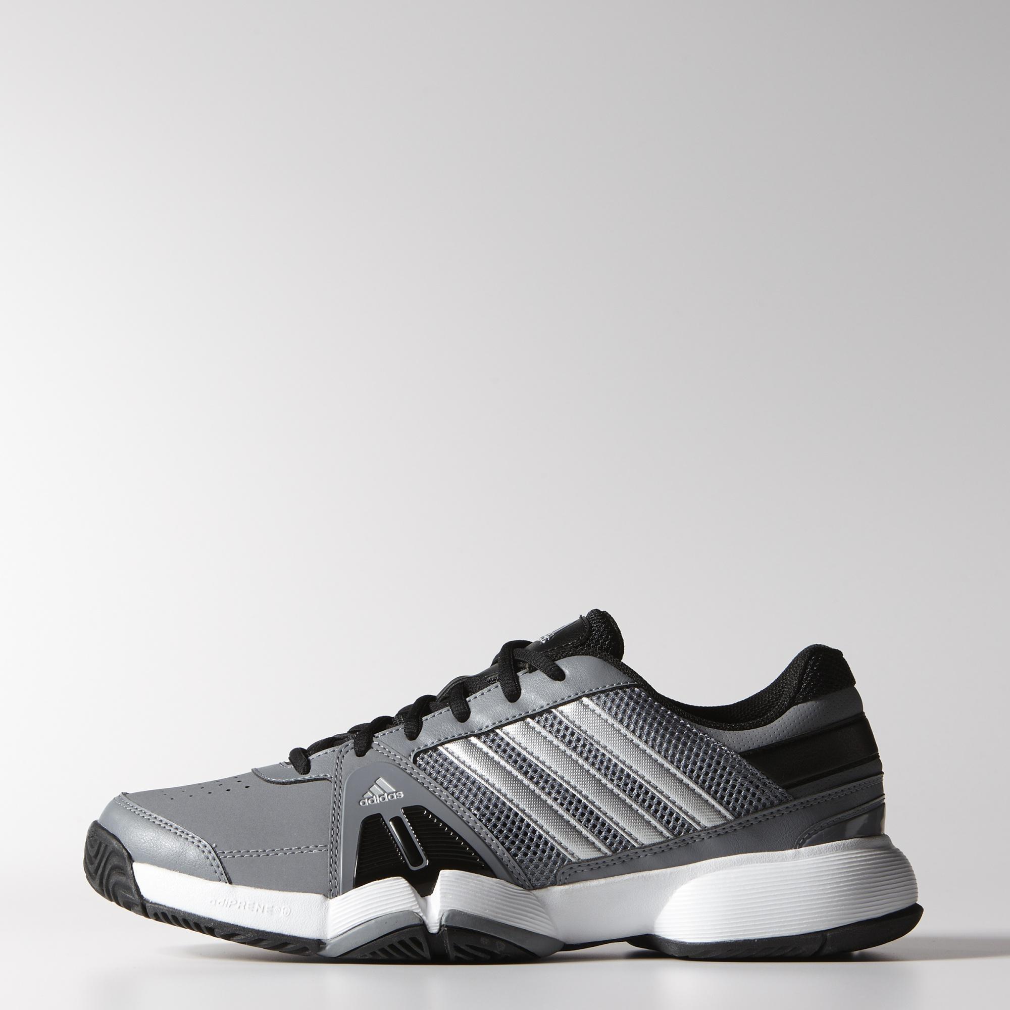 adidas mens barricata squadra 3, scarpe da tennis grigio / nero