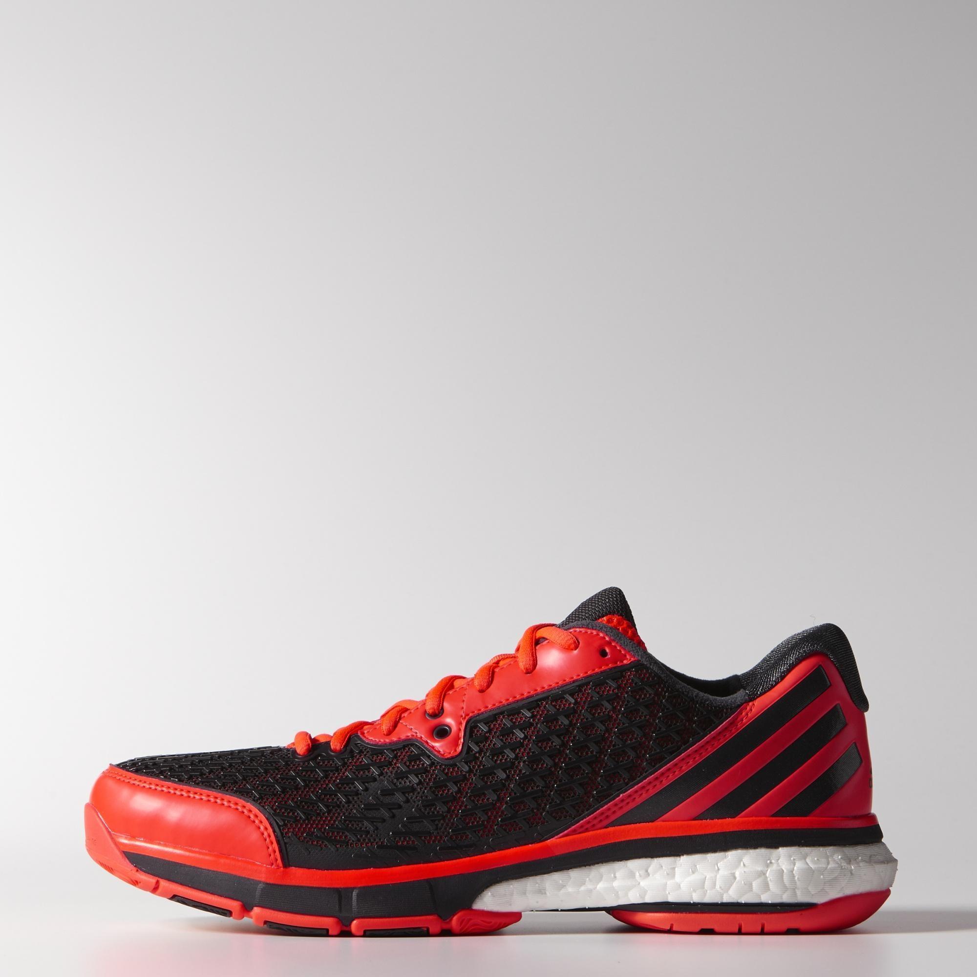 48e4f69fd Adidas Mens Energy Boost Volley Indoor Shoes - Solar Red - Tennisnuts.com