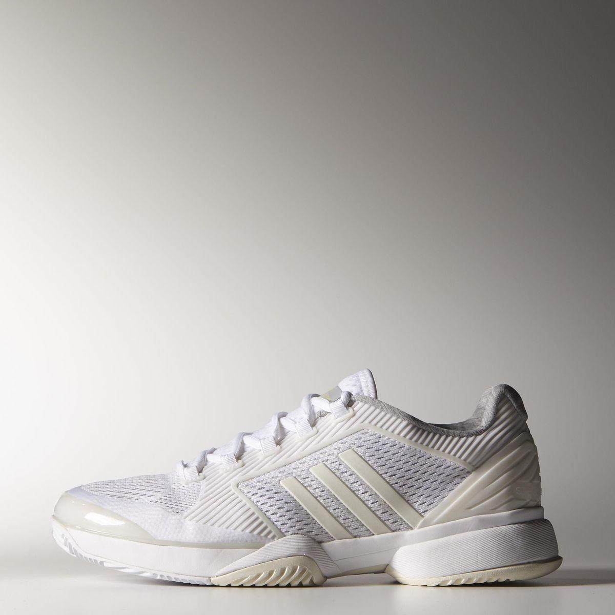 0e9807cd83152 Adidas Womens Stella McCartney Barricade 2015 Tennis Shoes - White/Yellow -  Tennisnuts.com