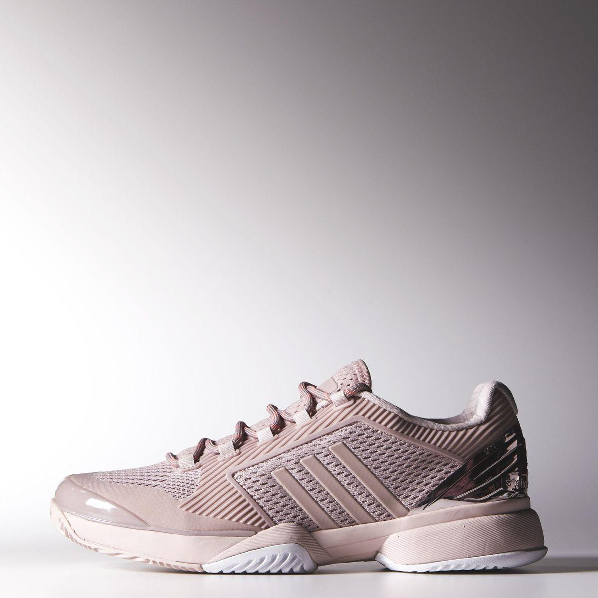 Adidas Womens Stella McCartney Barricade 2015 Tennis Shoes - Light Pink -  Tennisnuts.com d3ffffb19a