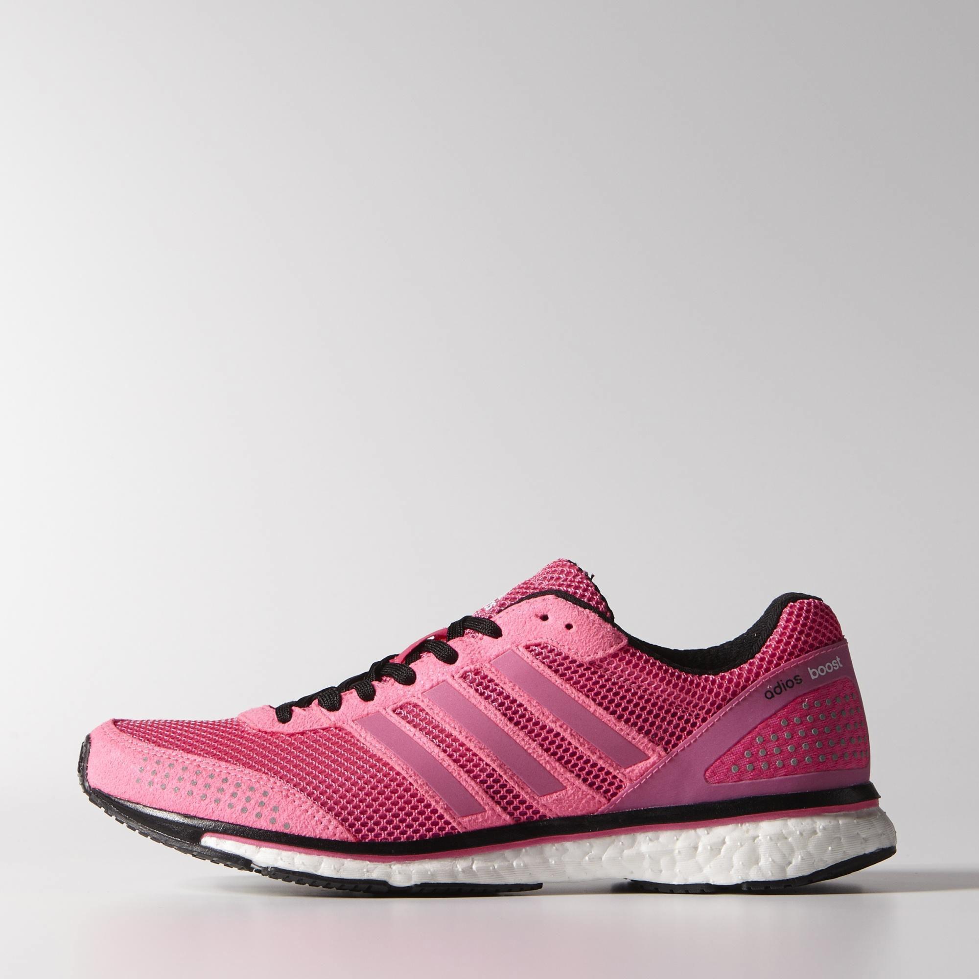 adidas womens adizero adios boost 2 0 running shoes solar pink. Black Bedroom Furniture Sets. Home Design Ideas