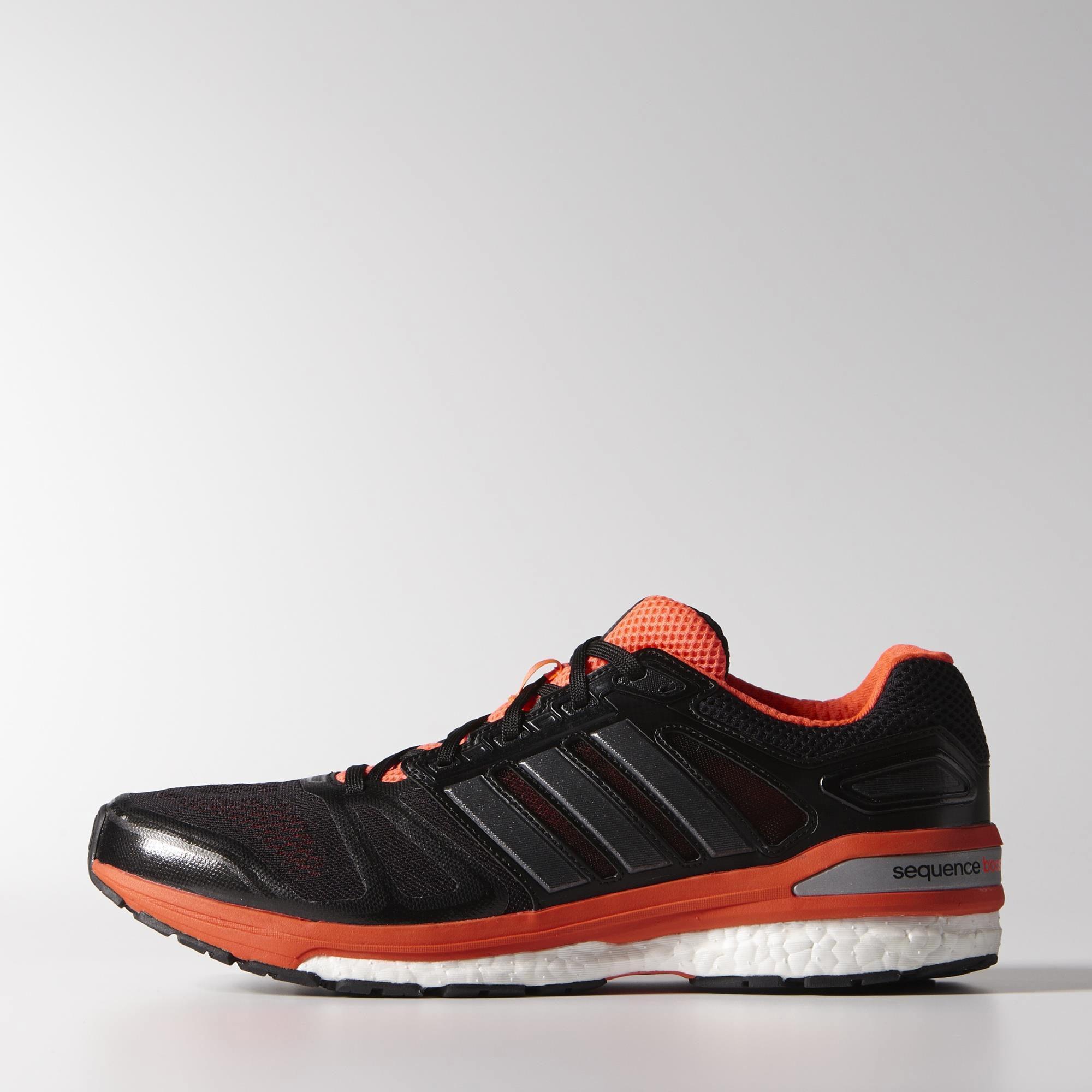 5deb613d6 Adidas Mens Supernova Sequence Boost 7 Running Shoes - Black Infrared -  Tennisnuts.com