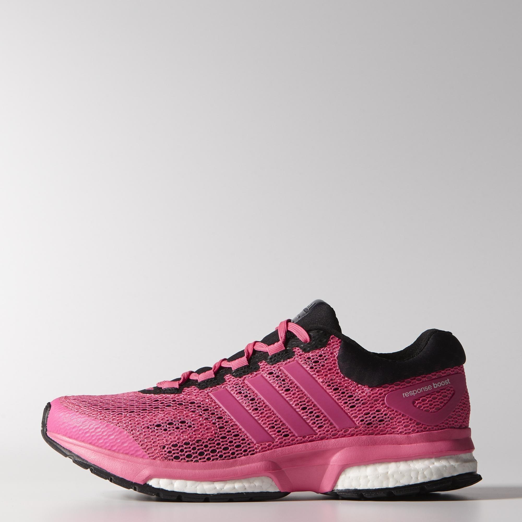 adidas womens response boost techfit running shoes solar