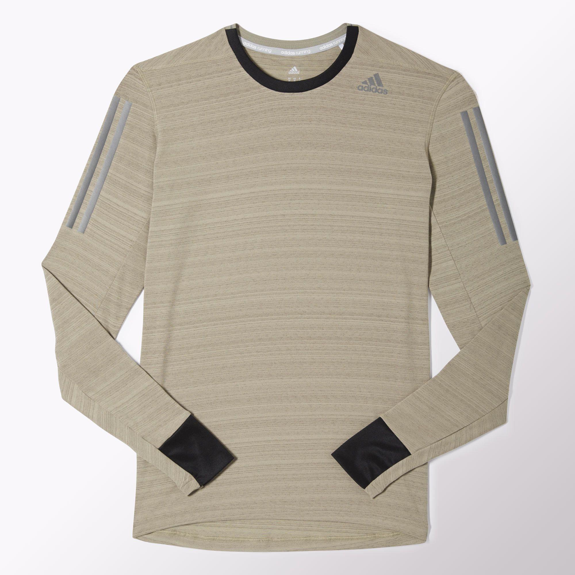 35397c59f7e Adidas Mens Supernova Long Sleeve Tee - Tech Beige/Black - Tennisnuts.com