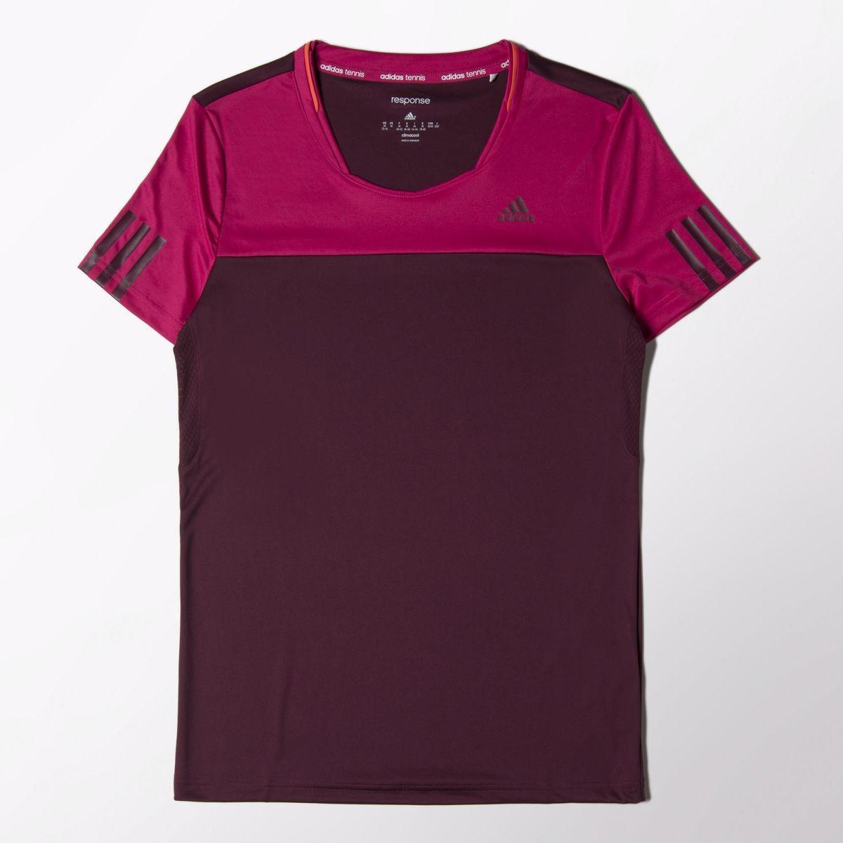 4119cbc9eaf7e Adidas Womens Response Tee - Amazon Red/Bold Pink