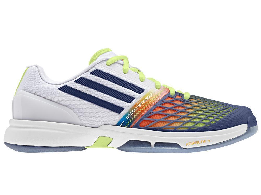 4a480238dceb Adidas Womens Adizero Tempaia 3 Tennis Shoes - White Dark Blue -  Tennisnuts.com