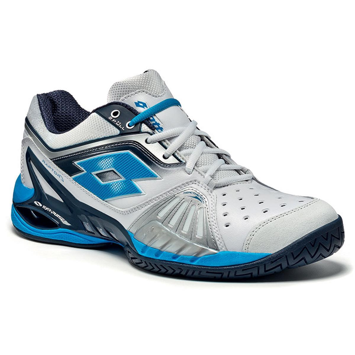 lotto mens raptor ultra iv speed tennis shoes white blue
