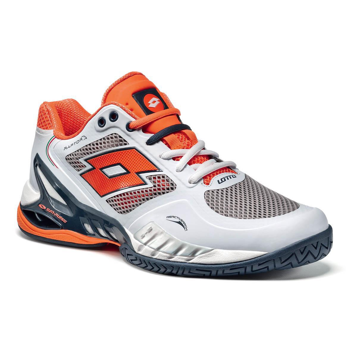 White And Orange Tennis Shoes