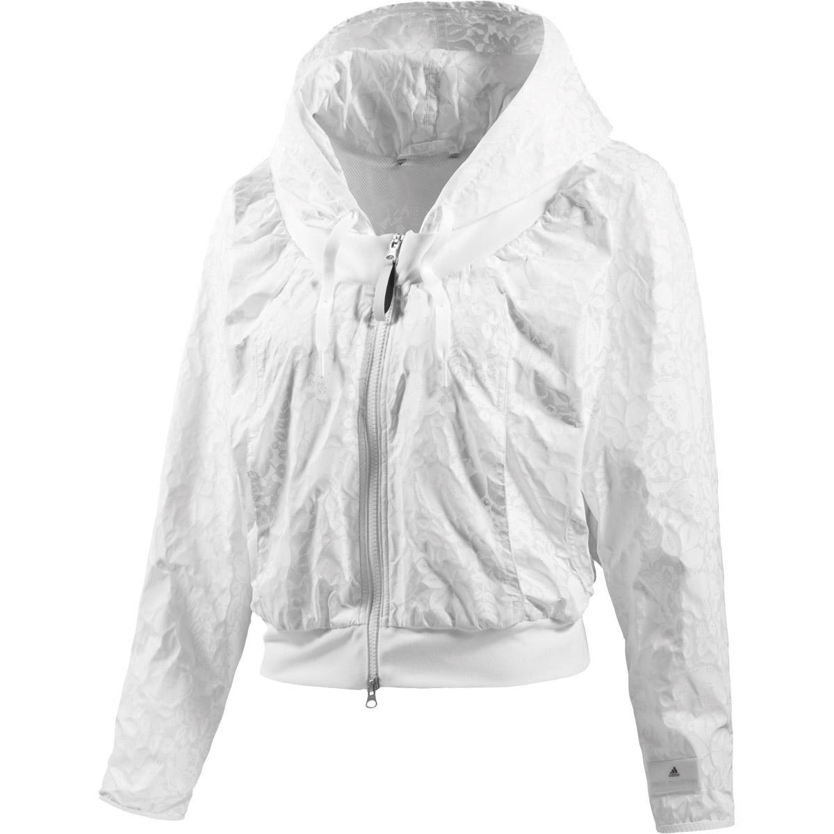 e2f581393409 Adidas Womens Stella McCartney Barricade Jacket - White - Tennisnuts.com