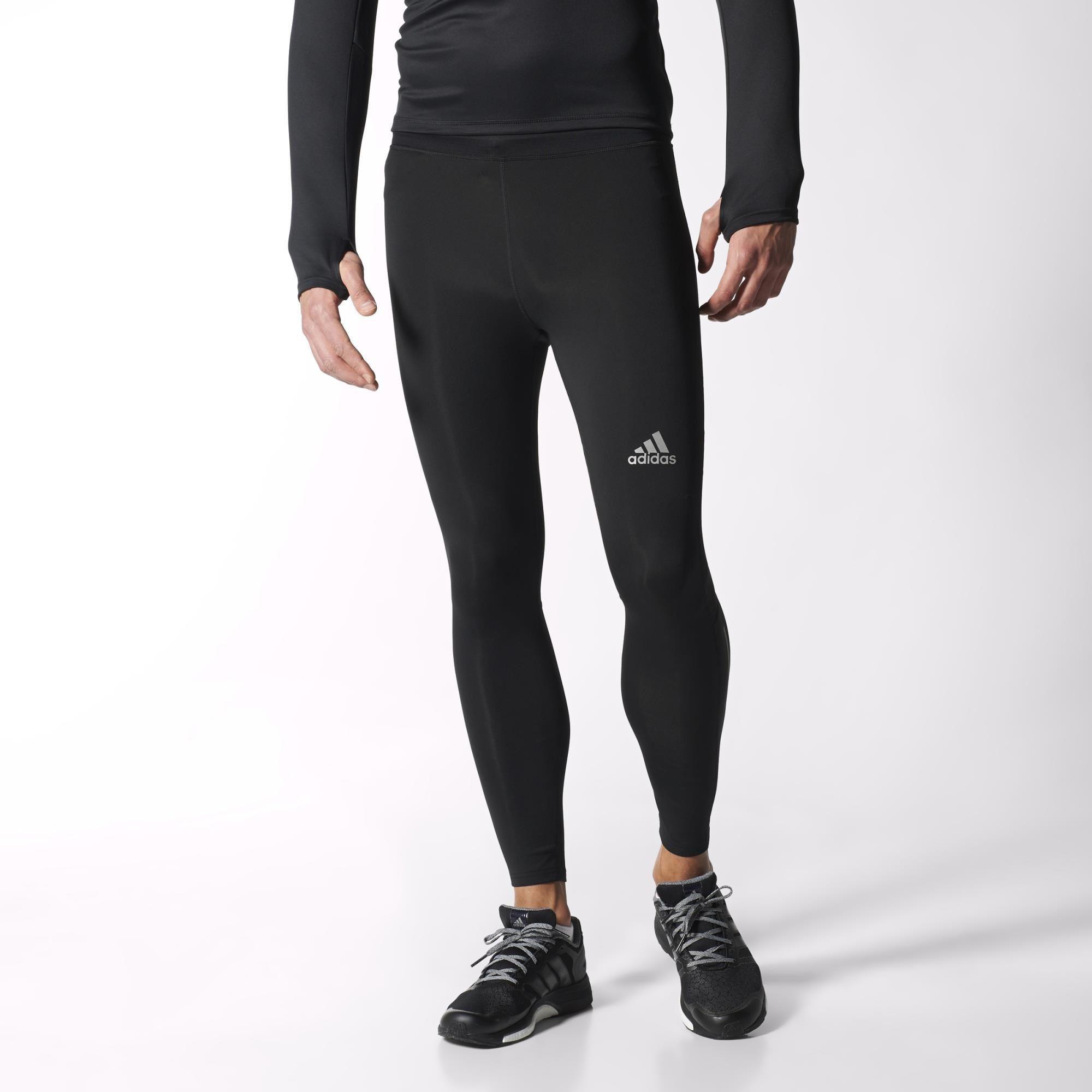 0674e37672546 Adidas Mens Sequencials Climalite Tights - Black - Tennisnuts.com