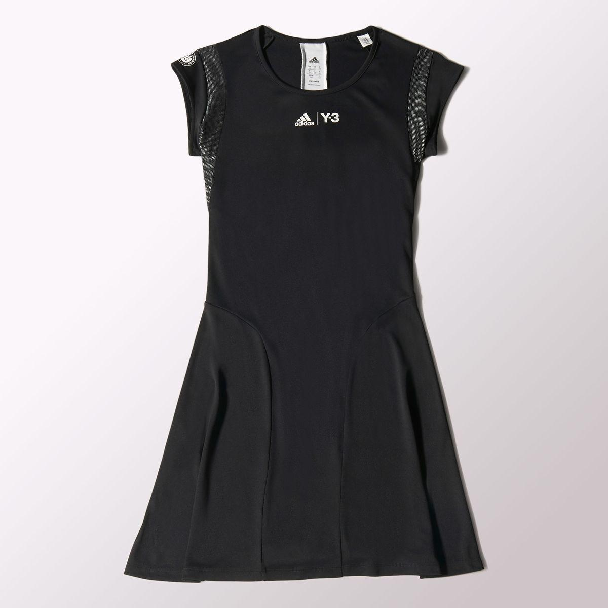4e8e142889d0b Adidas Womens Y-3 Roland Garros Dress - Black - Tennisnuts.com