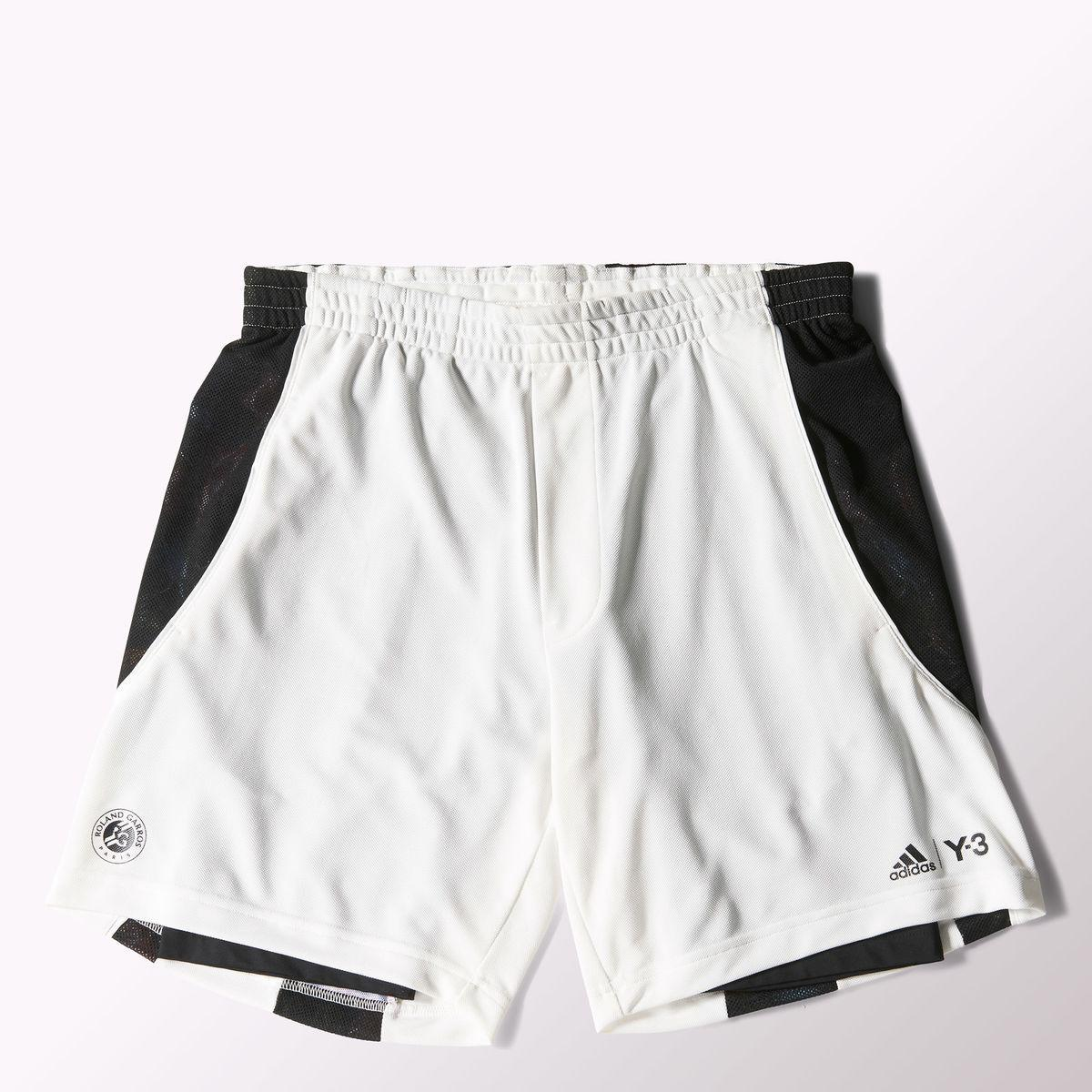 91d258983 Adidas Mens Y-3 Roland Garros Shorts - White - Tennisnuts.com