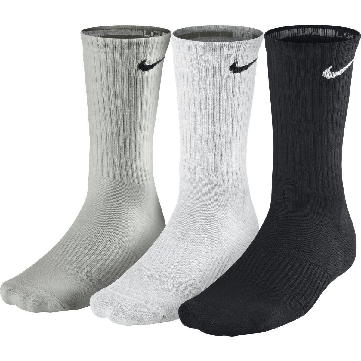443595696097 Nike Cotton Half-Cushion Crew Socks (3 Pairs) - White Grey Black -  Tennisnuts.com