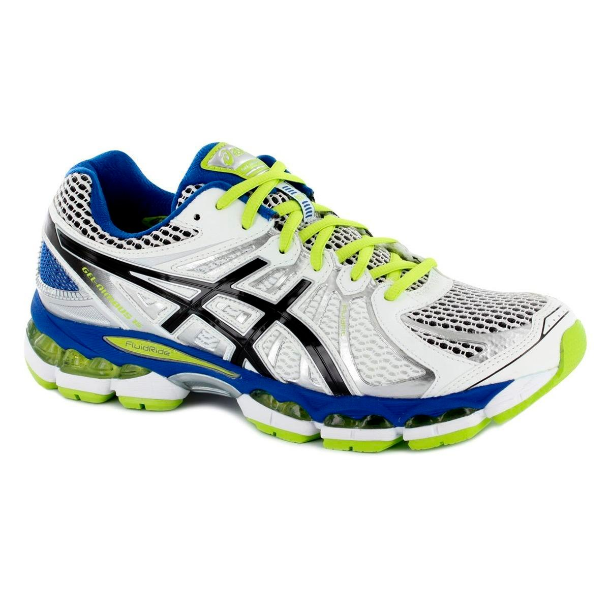 photos officielles 2a796 06c03 Asics Mens GEL Nimbus 15 Running Shoes - White/Black/Lime