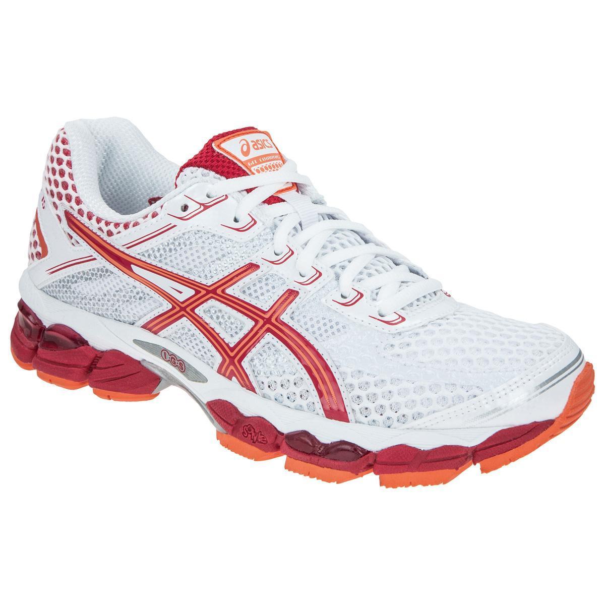 a8cab8ebe1b Asics Womens GEL Cumulus 15 Running Shoes - White Orange - Tennisnuts.com